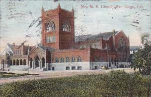 Greetings From Oklahoma With New M E Church San Diego California 1909