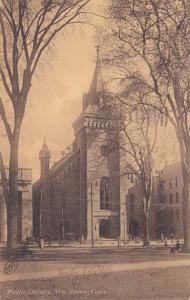 Public Library - New Haven CT, Connecticut - pm 1907 - DB