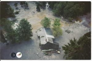 Mount St. Helens Home on the Toutle River falls Victim to Flood Debris Disaster