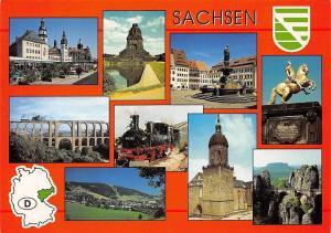 Sachsen multiviews Chemnitz Rosenhof Leipzig Goldener Reiter Dresden Statues