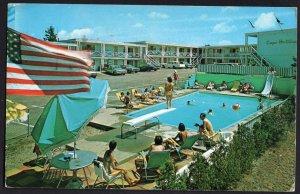 4420) Massachusetts HYANNIS Cape Holiday Motel Rt. 28 - pm1986 - Chrome