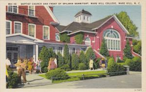 Baptist Church and Front of Spilman Dormitory, MARS HILL COLLEGE, North Carol...
