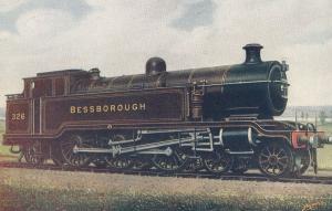 LB & SC Railway Bessborough 326 Train Old Postcard