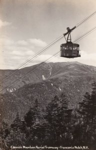 New Hampshire Franconia Notch Cannon Mountain Aerial Tramway Real Photo sk1609