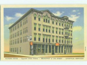 Unused Linen VICTORIA HOTEL Louisville Kentucky KY hr7812