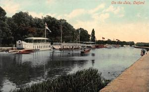 On the Isis, Oxford, England, early Postcard, Unused