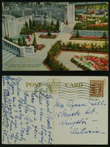 Oakes Garden Theatre-Niagara Falls, pmk St. Catherines 1941