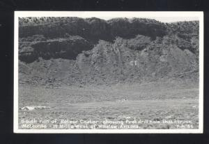 RPPC WINSLOW ARIZONA METEOR CRATER ROUTE 66 VINTAGE REAL PHOTO POSTCARD