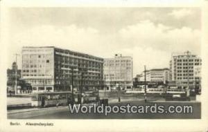 Berlin Germany, Deutschland Postcard Alexanderplatz  Alexanderplatz