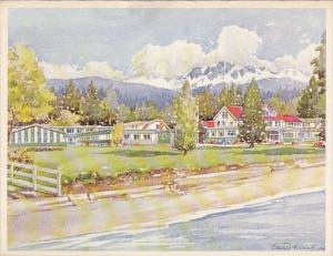 The Island Hall Hotel,  Parksville, V.I.,  B.C.,  Canada,  50-70s
