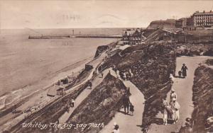 Whitby, The Zig-Zag Path, Yorkshire, England, United Kingdom, PU-1928