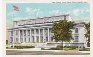 Iowa Cedar Rapids Linn County Court House Curteich