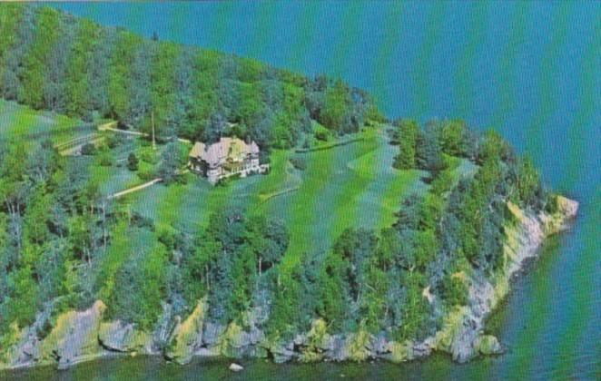 Canada Aerial View Beinn Bhreagh Home Of Alexander Graham Bell Baddeck Cape B...
