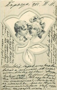 Postcard correspondence 1904 lovely couple love fantasy