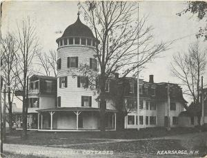 Kearsarge New Hampshire~Main House~Russell Cottages~1928 Postcard RPPC