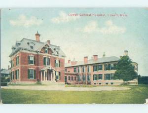 Divided-Back HOSPITAL SCENE Lowell Massachusetts MA W3254