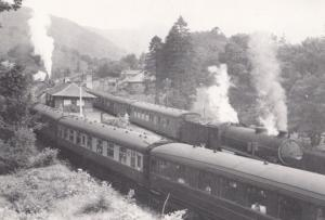 Engine 61342 Train at Ardlui with Glasgow Locomotive 1959 Railway Postcard