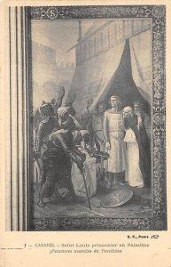 Religious Postcard Saint Louis prisioner in Palestine Unused