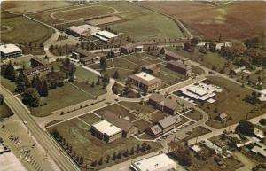 Brevard North Carolina~Brevard College Aerial View~Campus~Track Field~1950s