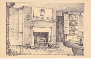 NEW CASTLE, Delaware, 1930's; Dutch House Interior