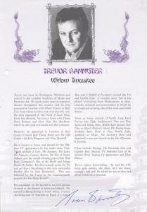 Trevor Bannister as Widow Twankee Hand Signed Theatre Programme Photo Page