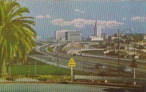 California Los Angeles Civic Center & City Hll From Los Angeles Freeways