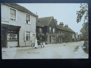 Kent MERSHAM showing THE DRAPERS SHOP & THE ROYAL OAK INN c1905 RP Postcard