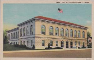 Illinois Waukegan Post Office Curteich