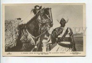 438843 SUDAN Khartoum ROCKER HORSE Gift Sultan Darfur Governor General photo