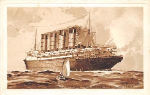 RMS Lusitania & Maurentania Oceanliner Ship Cunard Line Ship Steamer Unused