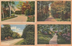 (4 cards) Greetings from Groton NY, New York - Rural Roads - Linen