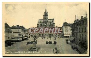 Postcard Compiegne Old Town Square Hotel
