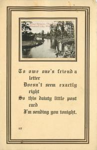 Howard City Michigan~Trout Stream~Tamarack Creek~1912 Postcard