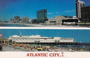New Jersey Atlantic City Bathing Beach & Ocean One Pier Shopping Mall