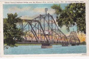 1930-40s; Illinois Central Railroad Bridge over the Missouri River between NE/IA