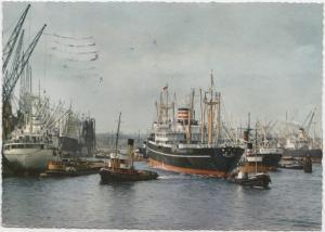 HAMBURG, Kaiser Wilhelm-Hafen, 1956 used Postcard