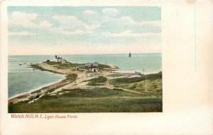 1901-1907 Postcard, Watch Hill, RI, Light House Point, Newport County, Unposted
