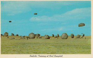 FORT CAMPBELL, Kentucky, 1940-60s; Realistic Training, Parachutes