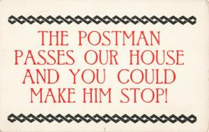Postcard The Postman Passes Our House