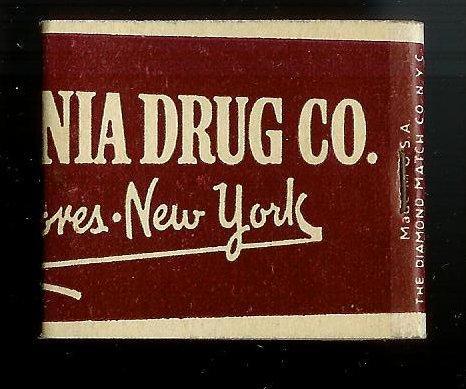 PENNSYLVANIA DRUG CO 1950's Full Unstruck Matchbook