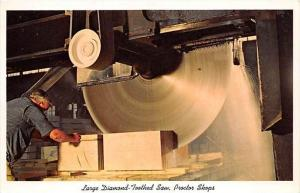 6793 Large Diamond-Toothed Saw, Proctor Shops, used to cutting marble in  the...