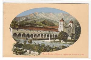 Santa Barbara Mission Santa Barbara California 1910s postcard