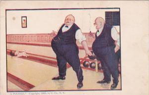 Bowling Humour Fat Men Bowling A Poodle