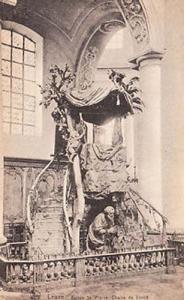 Leuze Saint St Pierre Church Eglise Chaire De Verite Antique French Postcard