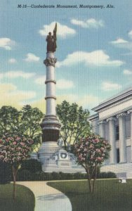 MONTGOMERY, Alabama , 30-40s ; Confederate Monument, north side of Capitol