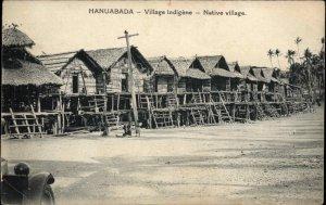 Papua New Guinea Hanuabada Native Village c1910 Postcard