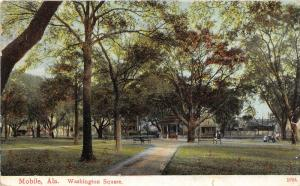 F15/ Mobile Alabama Postcard c1910 Washington Square 2
