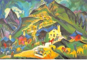 Ernst Ludwig Kirchner Alpaufzug, Montee a l'Alpage