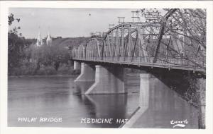 Canada Finlay Bridge Medicine Hat Alberta Real Photo