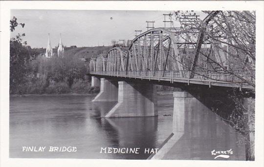 Canada Finlay Bridge Medicine Hat Alberta Real Photo